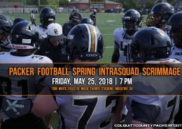 colquitt county packer football spring intrasquad scrimmage friday may 25 2018 moultrie ga