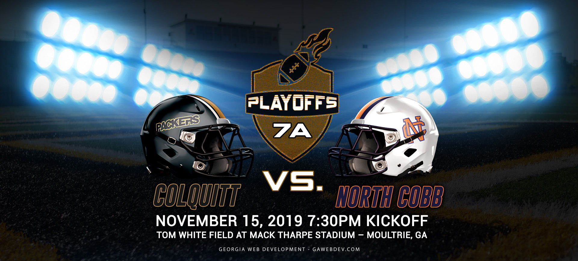 North Cobb Warriors vs. Colquitt County Packers 2019 GHSA 7A State Playoffs