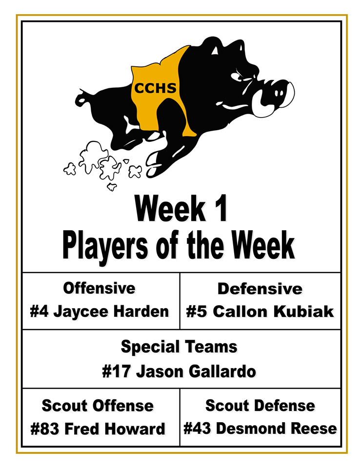 cchs players of the week 082419