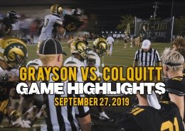 grayson vs colquitt 2019 highlights