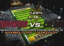 Brookwood versus colquitt ghsa 7-a state playoffs high school football